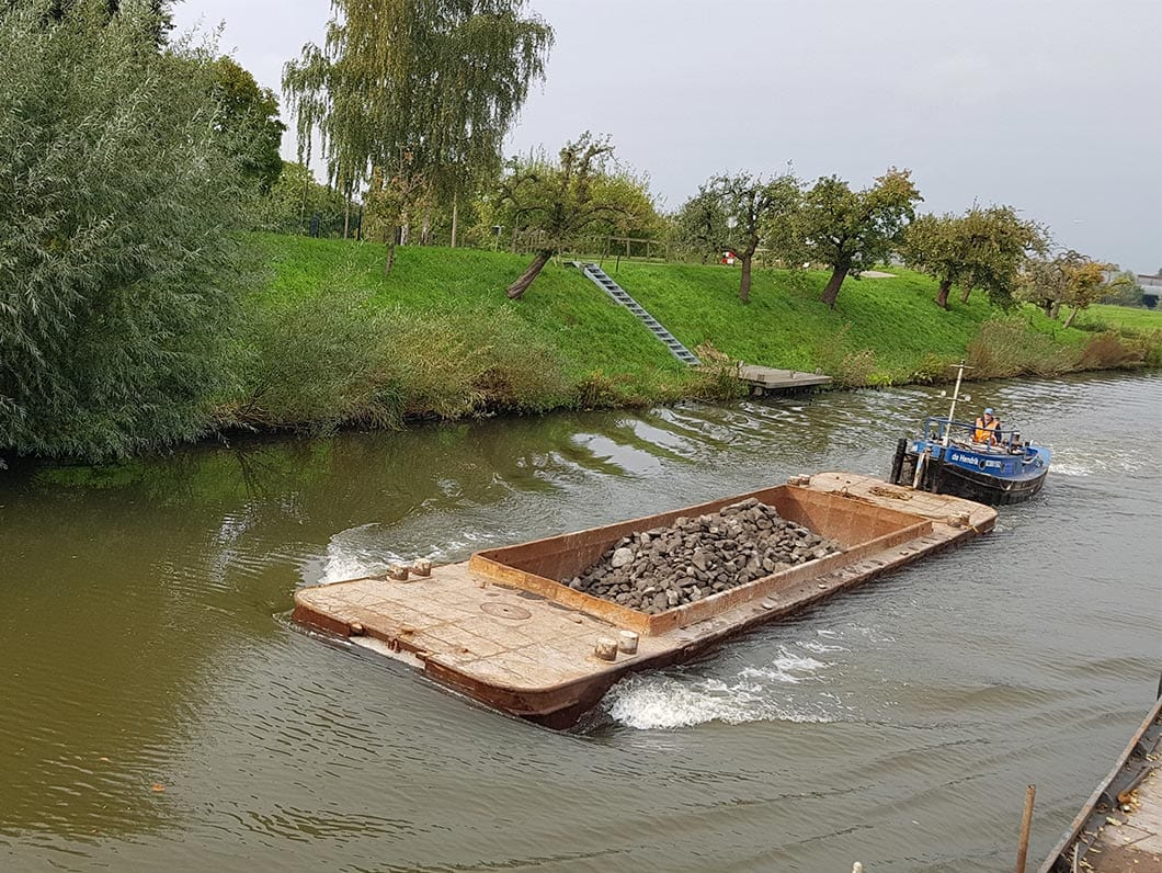 WRSL on the Linge - We have supplied the various materials required to carry out the works.