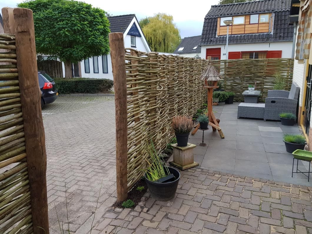 Willow fence in Lobith -